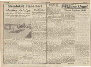 4/2 Sayfa Modern Antalya Şehir hergün ve ve: büyük bir sur'atla inkişaf ediyor, yeni içme suyu bir aya kâdar getirilmiş...
