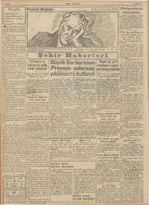 Mr e ge © sında cereyan eden görmiye çalışmayı emreder. Bu-! 2 Sayfa Hergün Görünüşe göre Dümen Almanya i'e İngilterenin...