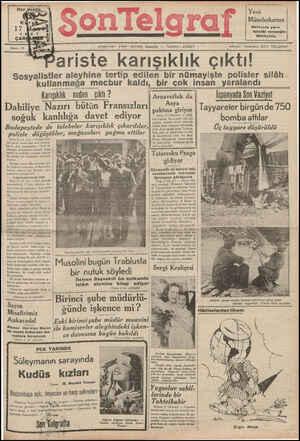 Son Telgraf Gazetesi 17 Mart 1937 kapağı
