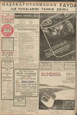 Son Telgraf Gazetesi 21 Mart 1937 kapağı