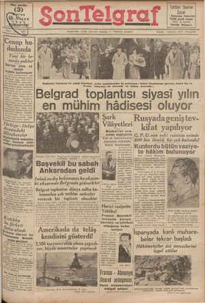 Son Telgraf Gazetesi 10 Nisan 1937 kapağı