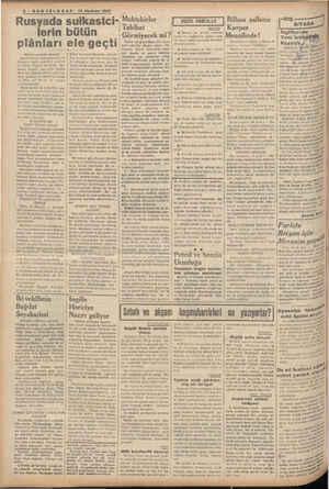 """"""" -toı 'rıı.caııl— 14 Haziran ıoa-ı Rusyada suikastci- lerin bütün plânları ele geçti (Birinci sayfadan devam) Maruf Sovyet"""