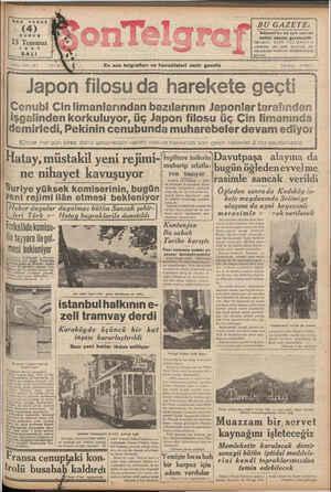 RER YERDE (4) KURUŞ 13 Temmuz 1937 SALI Sayı 441-127 ——— Hatay, müstakil yeni rejimi-| ne nihayet kavuşuyor Suriye yüksek