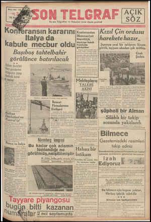 ON TELGRAF En son Telgrafları ve Haberleri veren akşam gazetesi ransın kararını İtalya da abule mecbur oldu Başıboş...