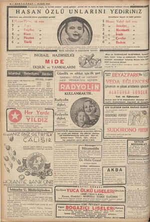 İ PHŞANİZ B- SONTELGRAF — 24 Eylül 1927 Avrupanın hayat, ve terkibi meçhul —HASAN ÖZLÜ UN Bebelerin ana sütünden sonra...