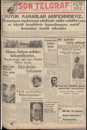 Son Telgraf sayfa 1