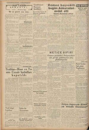 ELGRAF -3 Hnelhşrlıa'!? HAFTANIN KO ME YAZAN : Ercüment Süha Bir az gayret etse imiş: İzmir gazetelerinde okuduğumuza göre,