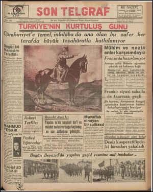 """Yazı İstanbul Cağaloğlu Nuruosma niye No: İşleri: Telefon 20827 — B """" Ensen T;Eg;ağlan Ve Haberleri Veren Akşan'; Gzrelesi"""""""