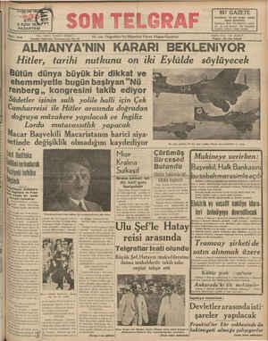 """# 'z WÜRU: 5 Eylül 19İ8PYT PAZARTESİ İşleri: Telefon 20827 İstanbul Cağaloğlu Nuruosmaniye No: 54 —— """"En son Telgıafları Ve"""