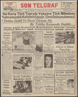 """o AD ı ' TIL A """"erKarış Türk Toprağı Yekpare Türk Milletinin Kahramanlık Kefaletindedir, Ona Dokunulamaz! Z7 En son..."""