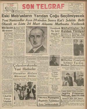 KURUSŞ BAYISI HER YERDE Mart, 1939 : TELEFON: 20827 — Cağaloğlu Nuruosmaniye No, En son Telgnflın Ve Haberlen Veren Akşam
