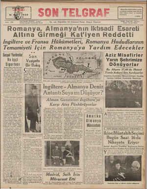 YAZI SAYI: 728 İŞLERİ: TELEFON:. 20827 İstanbul Cağaloğlu Nuruosmaniye No. M En son Telgrafları Ve Haberleri Veren Akşa'n...