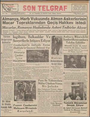YXAZI İstanbul Cağaloğlu Nuruosmaniye No, M İŞLERİ: TELEFON: 20827 En son Telgrafları Ve Haberleri Veren Akşîım Gazetesi...
