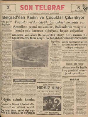 SAYISI MA YIS 1949 PAZAR 5 SA Telefon: Başmuhar Yi 1135 İstanbul Nuruosmani ü: 23300 En Son Telgrafları Ve Haberlen Veren