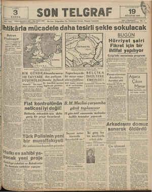 Â € Z e KN SAYISI KURUŞ rucamaniye Telefon: Başmuharrir: 20827 — İdare Iuıvu 23306 İstanbul En Son Telgrafları Ve Haberleri