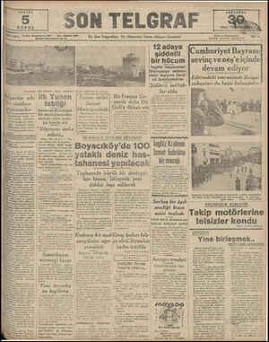 SAYISI En Son ngı'ıfhrı Ve Haberleri Verm n Akşam Gazetesi 12 adaya şiddetli bir hücum İngiliz tayyareleri Stampalya adasın-
