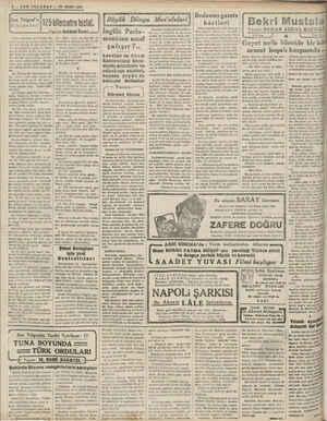 B PN Ç PŞT C 4 — SON TELGRAF — 20 MART 1941 a n Son Telgraf'ın Hikâyeleri Adını sorarsanız Ali Velidir. Ha-   gatta hiç bir