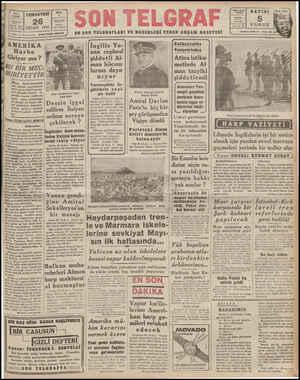 fatanbul NİSAN 1941   sen Terar KBU BİR MEC-!     FURİYETTİR Dünya hâdiselerindeki teri inkişaf Amerikanın Artık harbe...
