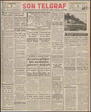 MAYIS 1941 Hekip ve Başmulârriri: ETEM İZZET BENİCE San Telgraf SON TELGRAF EN SON TELURAFLARI VE HABERLERİ VEREN AKŞAM...
