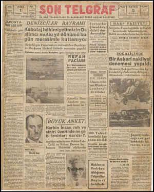 SALI 1 Temmuz 1941 Blhip ve Başmuharriri ETEM İZZET BENİCE TELORAY İrtanoyl' , Son Wölzrek yWT YO EN 80 z ——— — JAPONYA- NİN