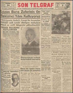 EN SON TELGRAFLARI VE HABERLERİ VEREN AKŞAM GAZETESİ arış Zaferinin O Sekizinci Yılını Kutluyoruz _Târki_ı]enin hedefi,...