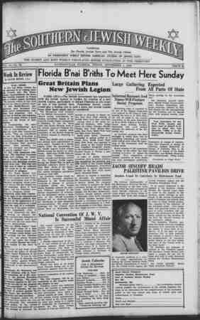 Southern Jewish Weekly Gazetesi September 1, 1939 kapağı