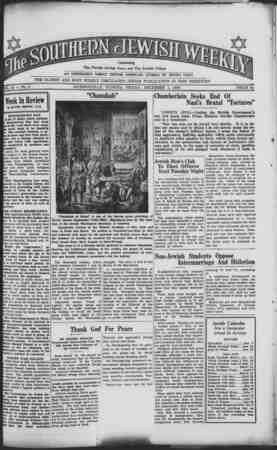 Southern Jewish Weekly Gazetesi December 1, 1939 kapağı