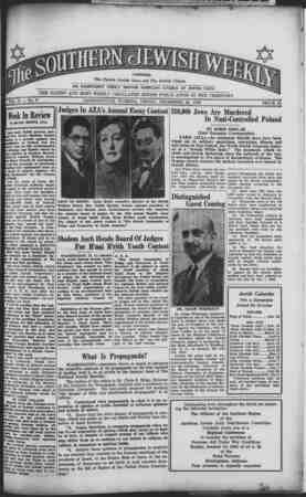 Southern Jewish Weekly Gazetesi 22 Aralık 1939 kapağı