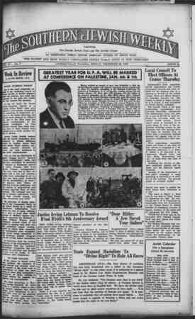 Southern Jewish Weekly Gazetesi 29 Aralık 1939 kapağı