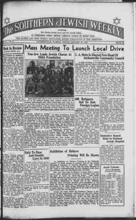 Southern Jewish Weekly Gazetesi 12 Ocak 1940 kapağı