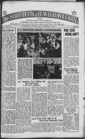 Southern Jewish Weekly Gazetesi 16 Şubat 1940 kapağı