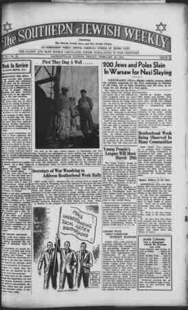 Southern Jewish Weekly Gazetesi February 23, 1940 kapağı