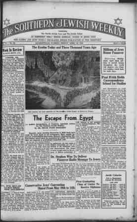 Southern Jewish Weekly Gazetesi 19 Nisan 1940 kapağı