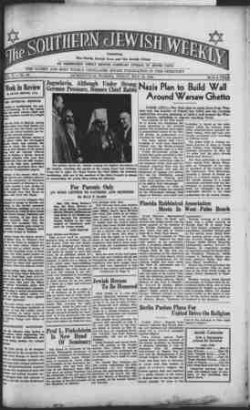 v?' V*sVi!SSESffß^ **'% -V' ✓ x ■ t  ^il^pP^*^ _ *^ le Florida Jewish News and The Jewish Citizen U!P sHs AN INDEPENDENT...