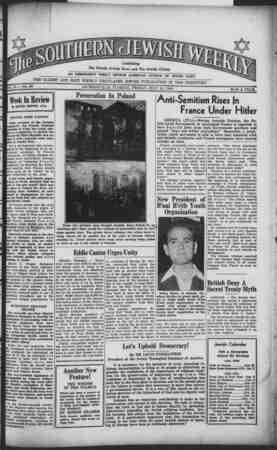 Southern Jewish Weekly Gazetesi 19 Temmuz 1940 kapağı