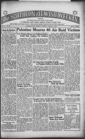 Southern Jewish Weekly Gazetesi 2 Ağustos 1940 kapağı