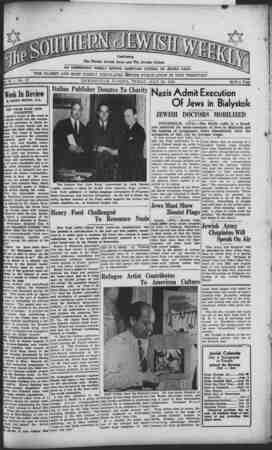 inf Th e Florida Jewish News and The Jewish Citizen       AN INDEPENDENT WEEKLY SERVING AMERICAN CITIZENS OF JEWISH FAITH '