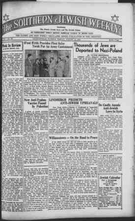1J I IP II Tr t rll * t / II El A Jm Bill Combining W I Vj j.-\ Jj The Florida Jewish News and The Jewish Citizen &J AN...