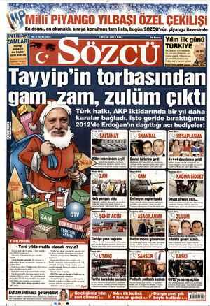 Sözcü Gazetesi 1 Ocak 2013 kapağı