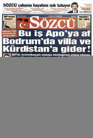 Sözcü Gazetesi 3 Ocak 2013 kapağı
