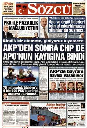 Sözcü Gazetesi 6 Ocak 2013 kapağı