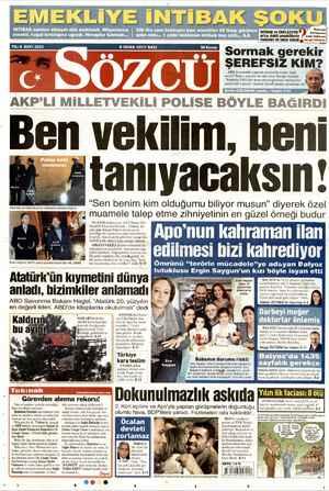 Sözcü Gazetesi 8 Ocak 2013 kapağı