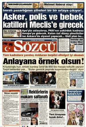 Sözcü Gazetesi 10 Ocak 2013 kapağı