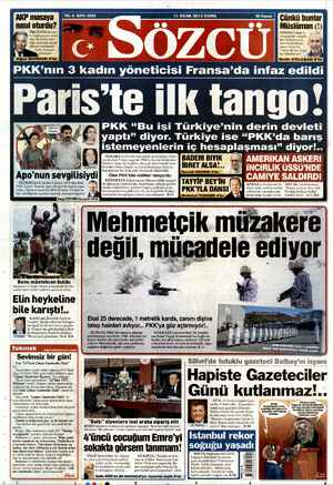 Sözcü Gazetesi 11 Ocak 2013 kapağı