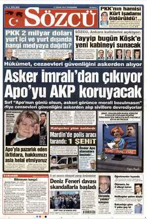 Sözcü Gazetesi 17 Ocak 2013 kapağı