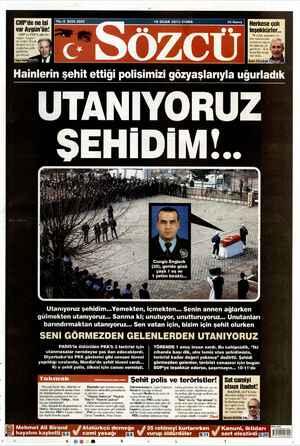 Sözcü Gazetesi 18 Ocak 2013 kapağı