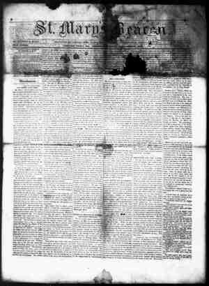 St. Mary's Beacon Gazetesi 25 Kasım 1852 kapağı