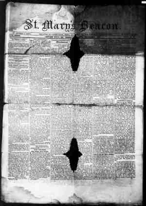 St. Mary's Beacon Gazetesi 9 Aralık 1852 kapağı
