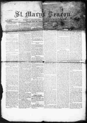 St. Mary's Beacon Gazetesi 10 Şubat 1853 kapağı