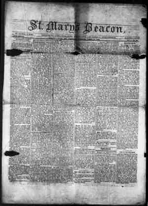 St. Mary's Beacon Gazetesi 21 Nisan 1853 kapağı